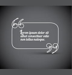 blank quote template vector image
