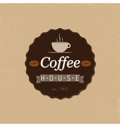 Coffee house badge vector