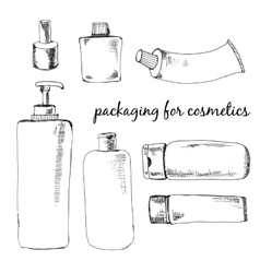 Packaging for cosmetics vector