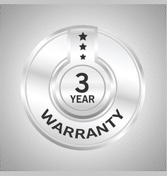 3 years warranty vector image vector image