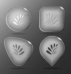 Plant glass buttons vector