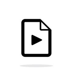 Media file icon on white background vector image