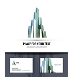 City logo icon emblem template business card vector