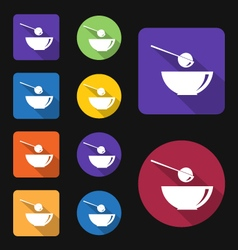 Scoop flat icon vector