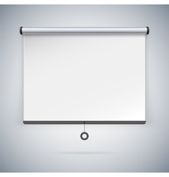 Projection screen to showcase your projects vector
