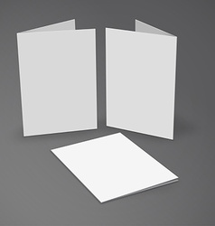 White mockup broshure 3d with shadow vector