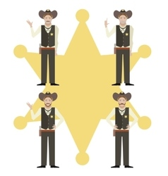 Set of sheriffs vector