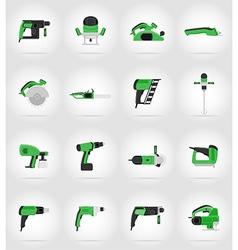 Electric repair tools flat icons 17 vector