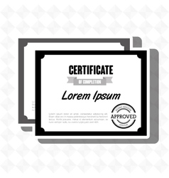 Diploma certificate isolated icon design vector