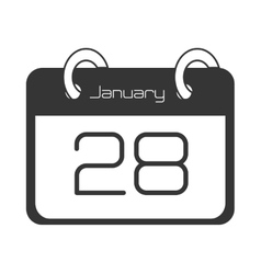 Calendar showing day of month vector