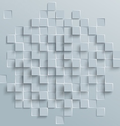 Abstract geometric shape from gray cubes or vector