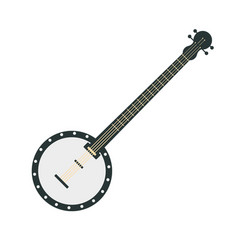 banjo part of musical instruments set of vector image