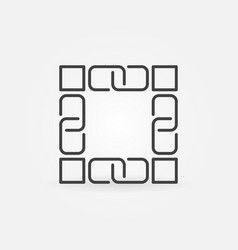 blockchain technology line icon block vector image