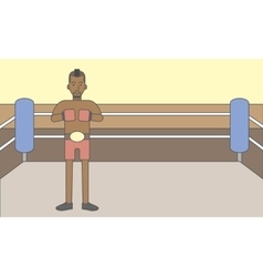 Boxer african man vector image vector image