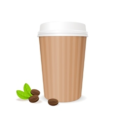 coffee paper cup vector image vector image