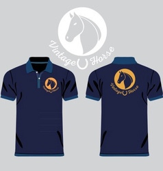 Collared shirt design template vector