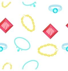 Costume jewellery for women pattern cartoon style vector