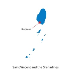 Detailed map of Saint Vincent and the Grenadines vector image vector image