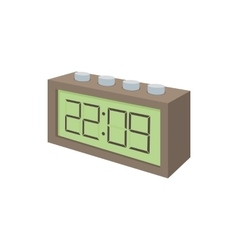 Digital table clock icon cartoon style vector image
