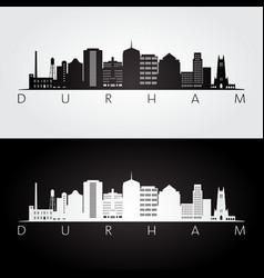 Durham usa skyline and landmarks silhouette vector