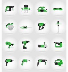 Electric repair tools flat icons 17 vector