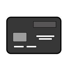 Flat credit card cartoon vector