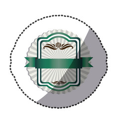 green square emblem icon vector image