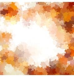Group autumn orange leaves EPS 10 vector image