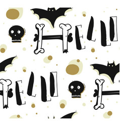 hand drawn abstract seamless halloween vector image vector image