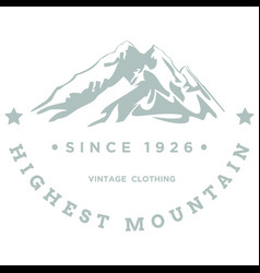 highest mountain vector image vector image