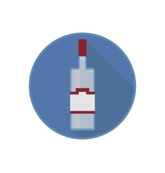 icon of alcohol bottle with the pure vector image vector image