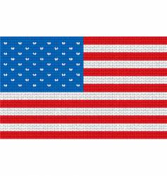 knitted United States flag vector image