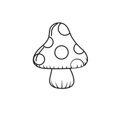 Line beauty natural fungus plant icon vector