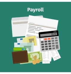 Payroll salary payment concept vector
