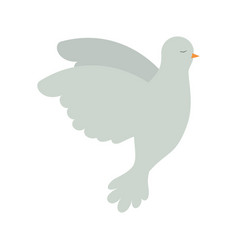 pigeon peace flying in side view on colorful vector image vector image