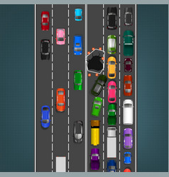 Road accident image vector