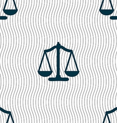Scales balance seamless pattern with geometric vector