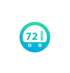 Thermostat icon pictogram on white vector
