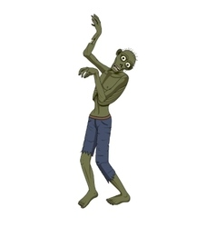 Zombie dancer isolated background vector image