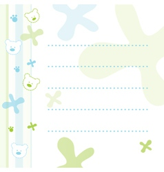 Teddy Bear Note Paper vector image