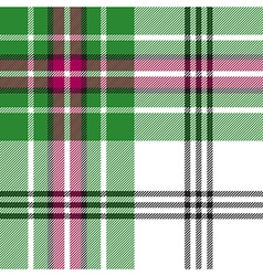 Green white tartan plaid seamless pattern vector image
