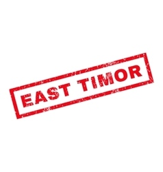 East timor rubber stamp vector