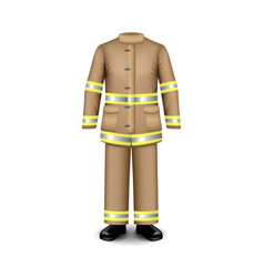 fire uniform isolated on white vector image