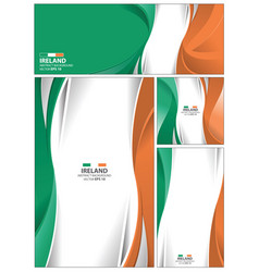 Abstract ireland flag background vector