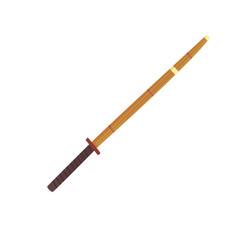 shinai bamboo sword kendo equipment cartoon vector image