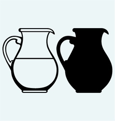 Vintage pitcher vector image