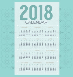 2018 mint tradition vintage printable calendar vector