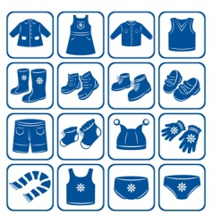 Child clothes set vector