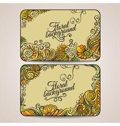 Set of two floral decorative frames vector