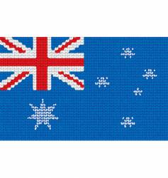 Knitted australia flag vector